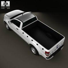 Ford Ranger Single Cab 2012 3d car model