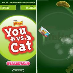You vs. Cat — the iPad game you play with your favorite feline. Really. @Jurgen Castro