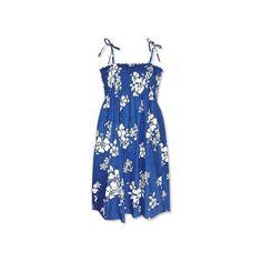 Waves Blue Short Hawaiian Smocked Sundress   #sundress #hawaiiandresses #sexyhawaiiandresses #hawaiianweddingdress #maxidress #hawaiiandress #floraldress