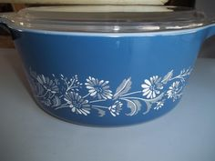 Colonial  Mist Pyrex #475-B, 2.5 Quart, Vintage, Casserole Dish, Baking Dish, Bowl with Lid by PyrexKitchen on Etsy