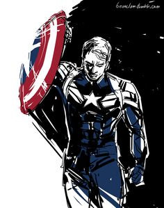 Captain America by Beanclam >>> I'm drawing aaah