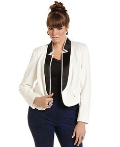 Baby Phat Plus Size Jacket, Double-Lapel Cropped - Baby Phat - Plus Sizes - Macy's