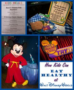 There are so many delicious foods to try at Disney that most people forget about looking for healthy options. Luckily there are ways your kids can eat healthy - find out how!