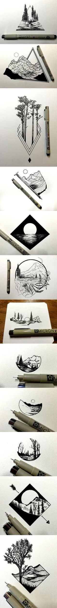 Tatto Ideas 2017 Daily Drawings by Derek Myers Fubiz Media a grouped images picture Kunst Tattoos, Body Art Tattoos, Tatoos, Stylo Art, Daily Drawing, Pen Art, Cool Drawings, Simple Drawings, Dragon Drawings