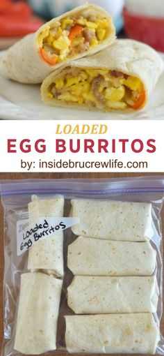 Make these Loaded Egg Burritos then freeze them for the perfect on-the-go breakfast! Click here to get this easy and deliciously filling recipe.