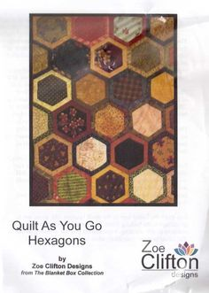 Quilt as You Go Hexagons Template Set by Zoe Clifton Designs Template Set