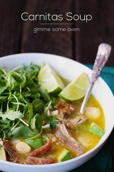Carnitas Soup Recipe | gimmesomeoven.com