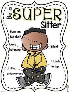 Super Sitter (free poster + back-to-school procedures) Best Picture For Inclus. Super Sitter (free poster + back-to-school procedures) Best Picture For Inclus… Super Sitter Classroom Procedures, Classroom Rules, First Grade Classroom, Classroom Behavior, Kindergarten Classroom, Future Classroom, Classroom Management, Behavior Management, Classroom Ideas