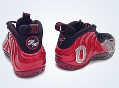 """Nike Air Foamposite One """"Ohio State"""" Customs by Sole Swap  #SneakerNews"""