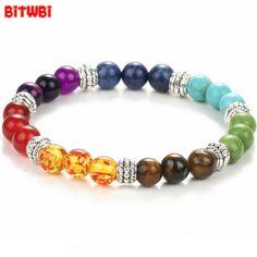 >> Click to Buy << 2017 Trendy Woman Bracelet Colorful beads Volcanoes Scrub Tiger Eye stone Beads Energy Brick Stretch Bracelet for Women #Affiliate
