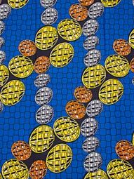 African Material Super Deluxe Wax Coins Royal Blue Ankara Fabric sw3306110