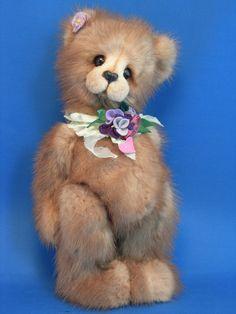 OOAK Artist Teddy Bear: Mink Teddy Bear custom made from your mink stole. $350.00, via Etsy.
