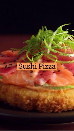 Sushi Recipes, Pizza Recipes, Seafood Recipes, Asian Recipes, Vegetarian Recipes, Snack Recipes, Cooking Recipes, Sushi Love, Oriental Food
