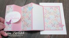 Really nice design! Fanfare Fancy Fold Card stampin up DIY Lyssa song of my heart tutorial