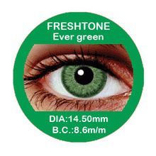 Cosmetic cheap Fresh Tone tri Green colored contact lenses / Korean color contact lens