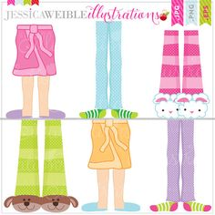 Hey, I found this really awesome Etsy listing at https://www.etsy.com/listing/106605872/pajama-feet-cute-digital-clipart-for