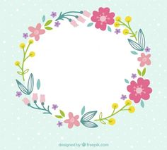 ✿ ❀ ❁✿ ❀ ❁✿ ❀ Flower Frame, Flower Crown, Foam Crafts, Diy And Crafts, Blog Backgrounds, Floral Embroidery Patterns, Cute Frames, Borders And Frames, Flower Clipart