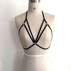 Sannysis Damen Harness BH elastische BH Riemchen aushöhlen BH Bustier (S, Schwarz): Amazon.de: Bekleidung