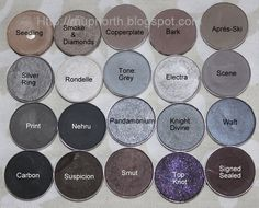 MupNorth: Mac Eyeshadow Swatches: Grey and Black