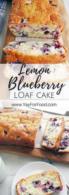 A classic family favourite recipe! This delicious Blueberry Lemon Loaf Cake is sweet, tart, wonderfully moist and fluffy, and so easy to make! Dessert | Cakes | Breakfast | Quick Bread