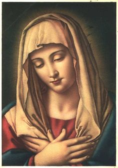 Salus Infirmorum The miraculous image of the Madonna della Salute, or Our Lady of Health, the patroness of Trieste in Italy. The painting is attributed to Sassoferrato (1609 - 1685).
