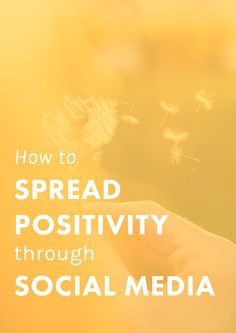 Social Media plays a huge role in our lives, but there are  plenty of ways we can use it to feel inspired and spread positivity! These tips will help.
