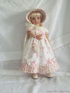 "13"" Effner Little Darling BJD fashion shabby roses Regency OOAK handmade by JEC #Unbranded #ClothingAccessories. SOLD for $204.50."