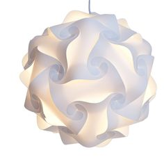 FTE IQ Lamp Shade with 12' Lantern Cord (Large, White)