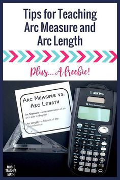 If you teach high school geometry, check out these tips for teaching the difference between arc length and arc measure.  BONUS:  There's a free printable for student's interactive notebooks!