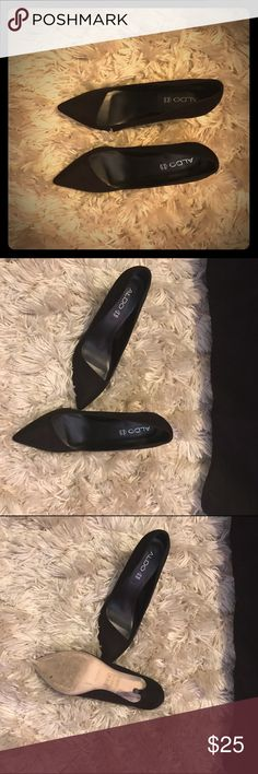 Aldo Statement Heels Aldo must haves heels. Classy, genuine leather & stylish. These are statement shoes. These shoes have only been worn twice. Sorry, no returns. Who wants to take these babies home? Aldo Shoes Heels