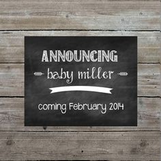Printable art - pregnancy announcement