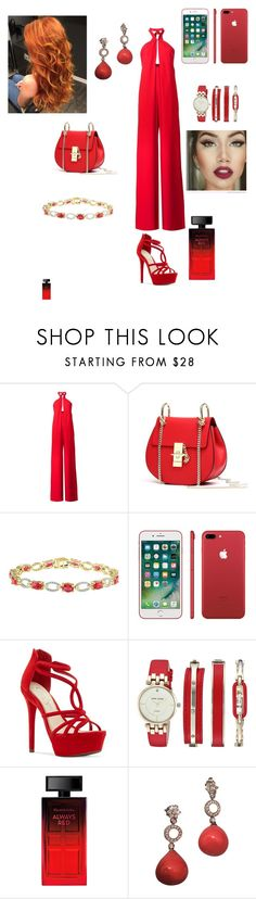 """Red"" by bloodrose6 ❤ liked on Polyvore featuring Misha Nonoo, Jessica Simpson, Anne Klein and Elizabeth Arden"