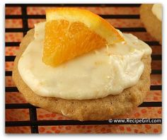Iced orange cookies > these were great! The orange made them taste really fresh.