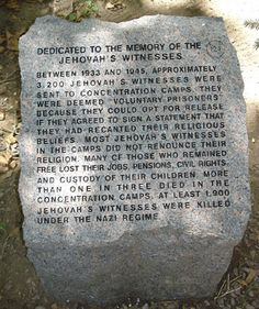 holocaust jehovah's witnesses | Jehovah's Witness Marker