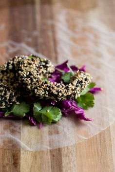 Sesame Crusted Avocado and Cabbage Spring Rolls by @erin (naturally ella)