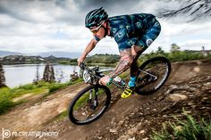 https://flic.kr/p/Gbfvm1 | Down at the Lake | Bryant Mena struts his stuff on the shore of Puddingstone Lake during a 2016 Kenda Cup cross country mountain bike event at Bonelli Regional Park in San Dimas, CA.  Galleries: www.pbcreativephoto.com  Strobist: Profoto B1 with zoom reflector at camera left, triggered with Profoto wireless.