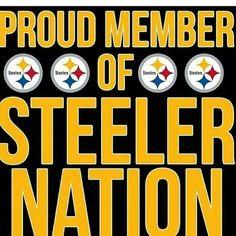 Proud member of Steeler nation Pittsburgh Steelers Wallpaper, Pittsburgh Steelers Football, Pittsburgh Sports, Best Football Team, Football Memes, Sports Memes, Sports App, Blackhawks Hockey, Football Gear