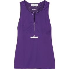 Adidas by Stella McCartney Climachill® stretch tank (77 AUD) ❤ liked on Polyvore featuring activewear, activewear tops, purple, adidas sportswear, adidas, adidas activewear and athletic sportswear