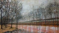 City Canal Landscape Art, Landscape Paintings, Sky, Heaven, Landscape, Landscape Drawings, Paisajes, Landscape Architecture