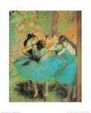 Edgar Degas - Blue Dancers Reprodukce