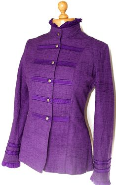Good clothes for nice people. Silk Jacket, Vintage Glamour, Cool Outfits, Trending Outfits, Purple, Sweaters, Jackets, Etsy, Clothes