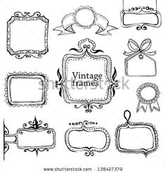 vintage hand drawn frames collection eps8 by makeitdouble, via Shutterstock