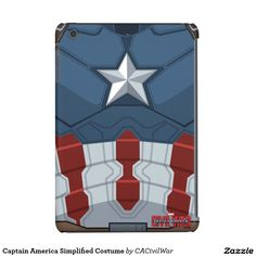 Captain America Simplified Costume iPad Mini Covers. Regalos, Gifts. #carcasas #cases