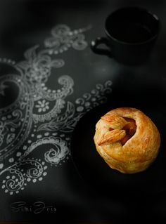 Apple pastry with infused sage