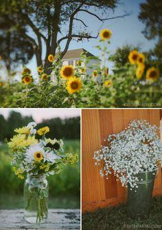 the sunflower wedding / Kristin Partin Photography