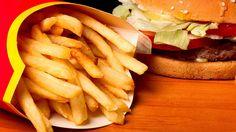 Fries and hamburger