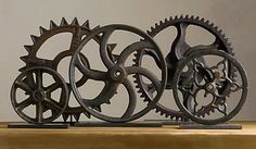 A favorite from Restoration Hardware ~ goal is to find authentic gears like this with hopefully more character, and a smaller price tag.