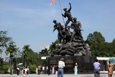 The National Monument (Tugu Negara) is made in remembrance of the fallen 'soldiers' during the fight for freedom to independence in Malaysia. It represents the fallen soldiers during the 2nd World War, when Japan occupied this part of Southeastern Asia (next to that also the repelling of communism is often mentioned). 10 minutes drive from Peninsula Residence All Suite Hotel http://www.peninsula-residencekl.com