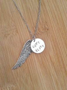Doctor Who Necklace  Don't Blink Weeping Angel by Teletique, $11.00