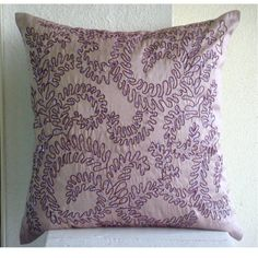 Luxury Purple Decorative Pillow Cover, Contemporary Flora... https://www.amazon.com/dp/B005EMTYJ2/ref=cm_sw_r_pi_dp_x_XsxqybJ995XHE